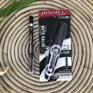 Rimmel London Mascara Eyeliner Black